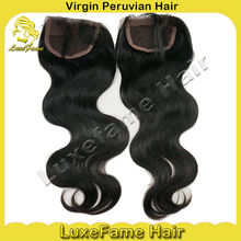Top quality grade 5A peruvian hair lace closures