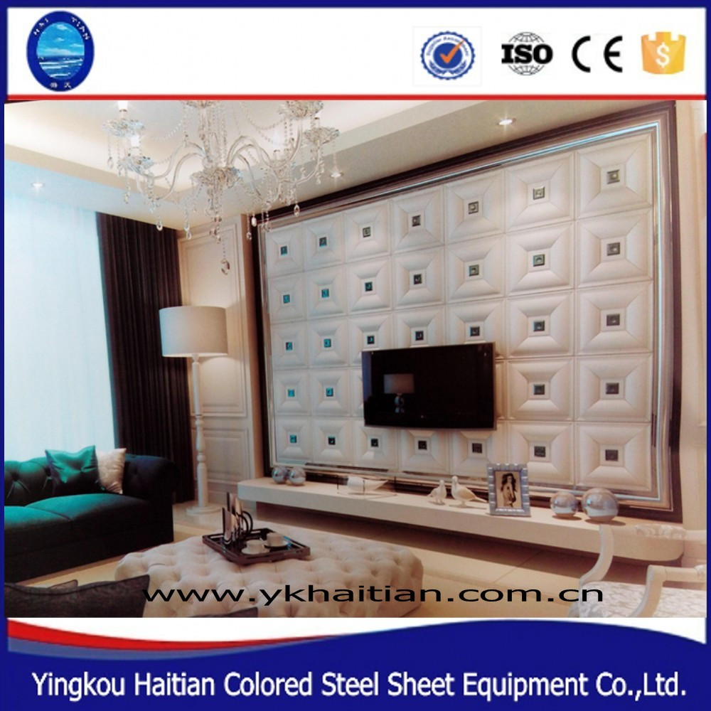 Leather carving Indoor sound insulation wall panel insulation 3D foam Wall Panel for sale