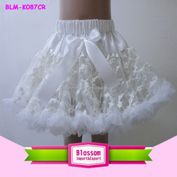 newborn baby petit skirt fluffy tutu skirt for girls tutu dress/ tutu skirt/solid white wholesale pettiskirts