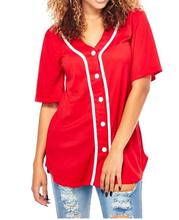 Kustom kering fit baseball tee shirts grosir murah plain womens baseball jersey