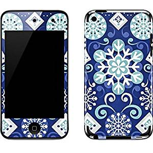 Patterns iPod Touch (4th Gen) Skin - White and Blue Snowflakes Vinyl Decal Skin For Your iPod Touch (4th Gen)