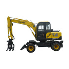 9 Ton Cheap Wheel Excavator Mini With Bucket And Grab