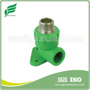 PPR Green Wall plated Male Elbow