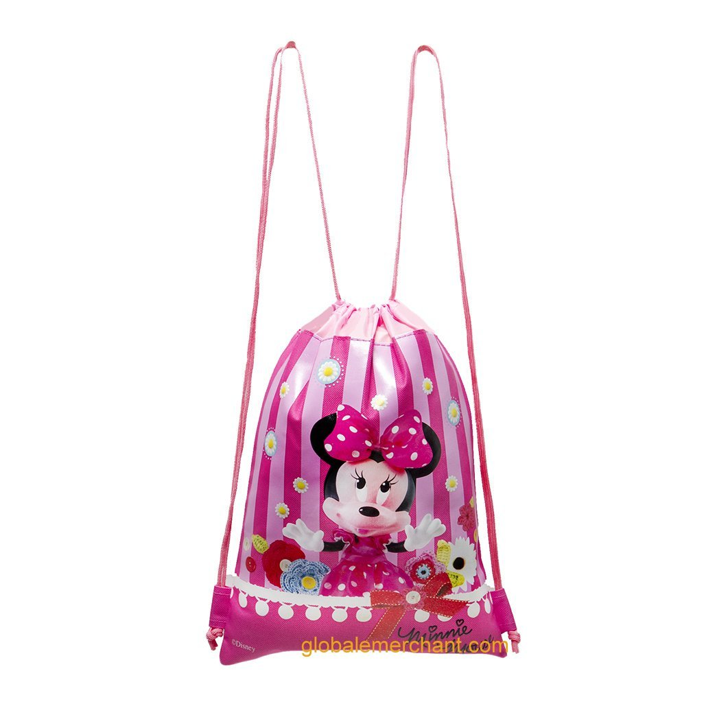 Disney Minnie Mouse Hot Pink Drawstring Bag