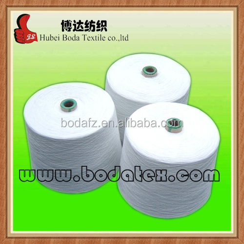 100 polyester spun yarn 30S paper cone raw white