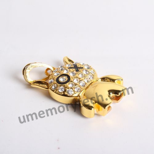Cute crystal usb flash drive within good wafer made in china factory