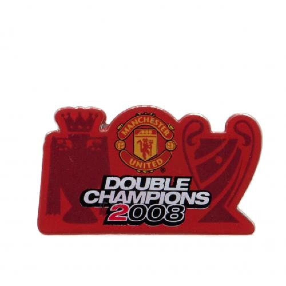 1cf4ceb76e09 Get Quotations · Football Gifts - Manchester United Fc Gift Ideas -  Official Manchester United FC Double Champions Badge