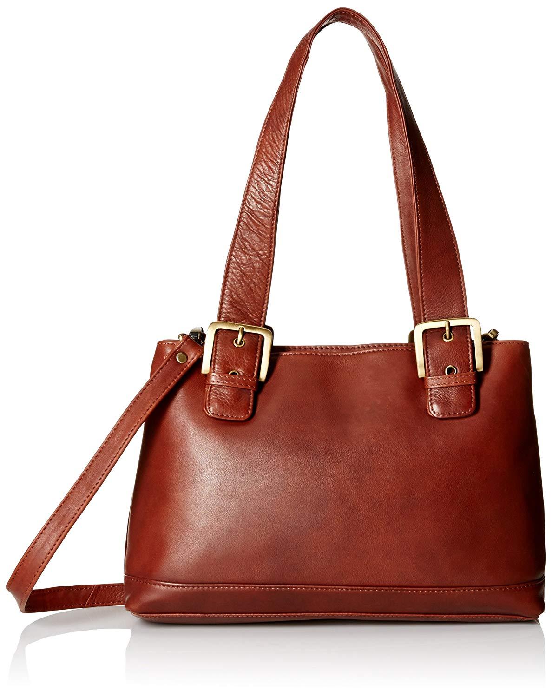 Get Quotations Visconti Womens Large Leather Shoulder Bag Handbag Messenger Brown One Size