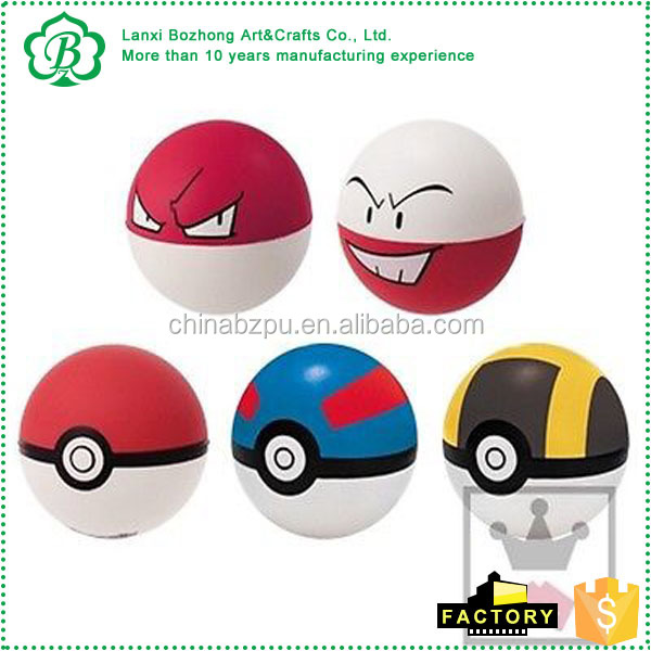 promotion toy Pokemon pu BALL Pokeball Stress Relief Squeeze Foam Poke Ball Toy