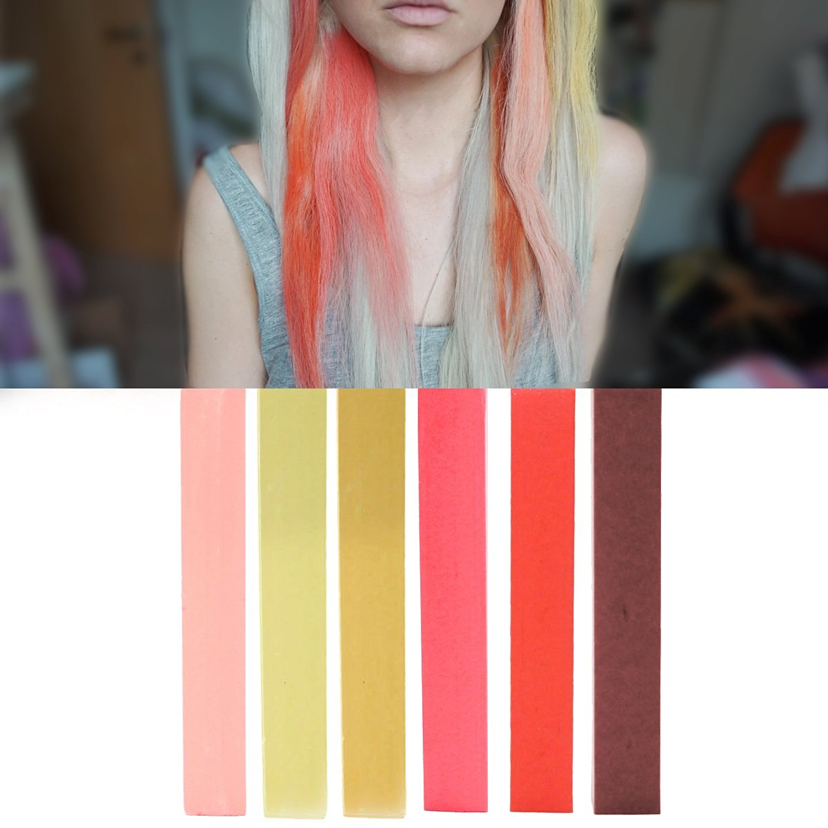 Buy Best Rose Gold Ombre Hair Dye Set Pink Blonde Red And