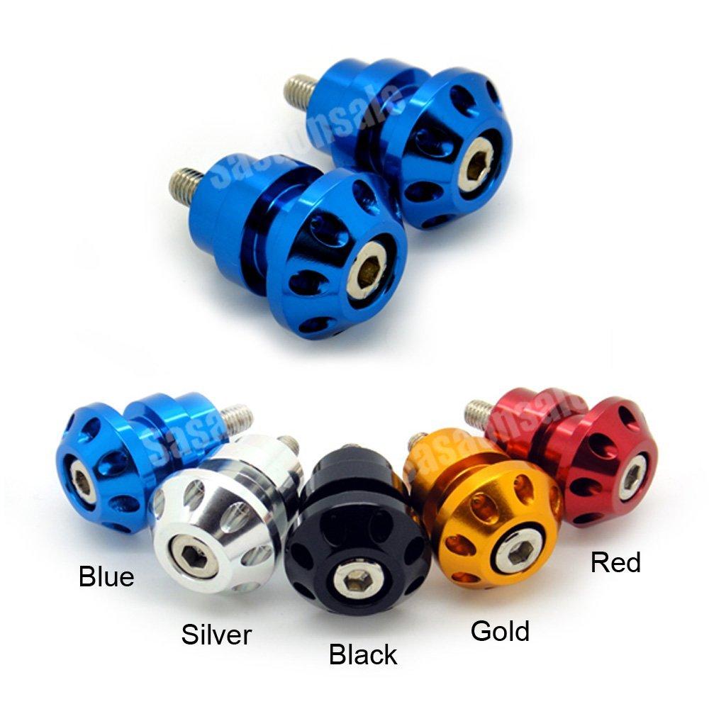MIT Motors - BLUE - 8mm Universal Swingarm Spools - HONDA CBR F1 F2 F3 F4 F4i 600 900 929 954 1000 RR, RVT 1000 RC51 SP1 SP2, DUCATI 749 999 1098