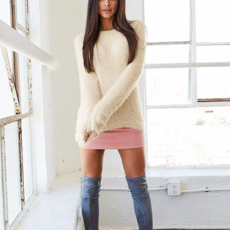 f4c87ac058 2019 Wholesale Thick Women Sweater High Elastic Casual Turtleneck Sweater  Women Slim Tight Bottoming Knitted Pullovers From Mujing