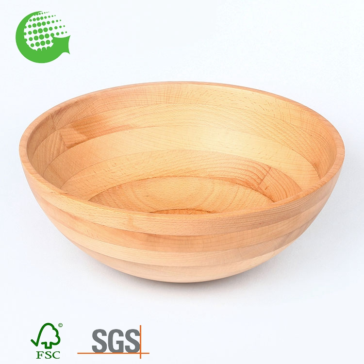 Wholesale Factory Beech Cheap Chilli Canada Salad Bowl
