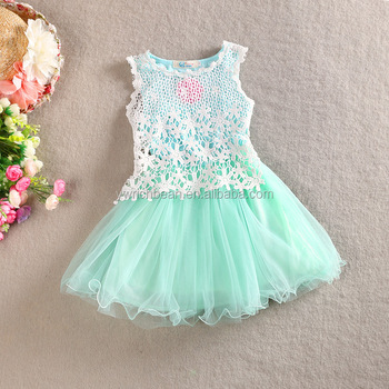 291a39502 New Summer Baby Girl Toddler Lace Clothing Dress For Infant Floral Princess  Dress Children's Dresses kids
