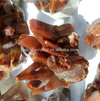 wholesale Charming Decorative natural Red jade Crystal Cluster