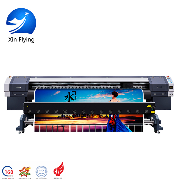 1440DPI 4 Pass 36m2/h 3.2m Large Width Format flex printing Digital Eco Solvent Printer for Textile / Fabric Sublimation Printer