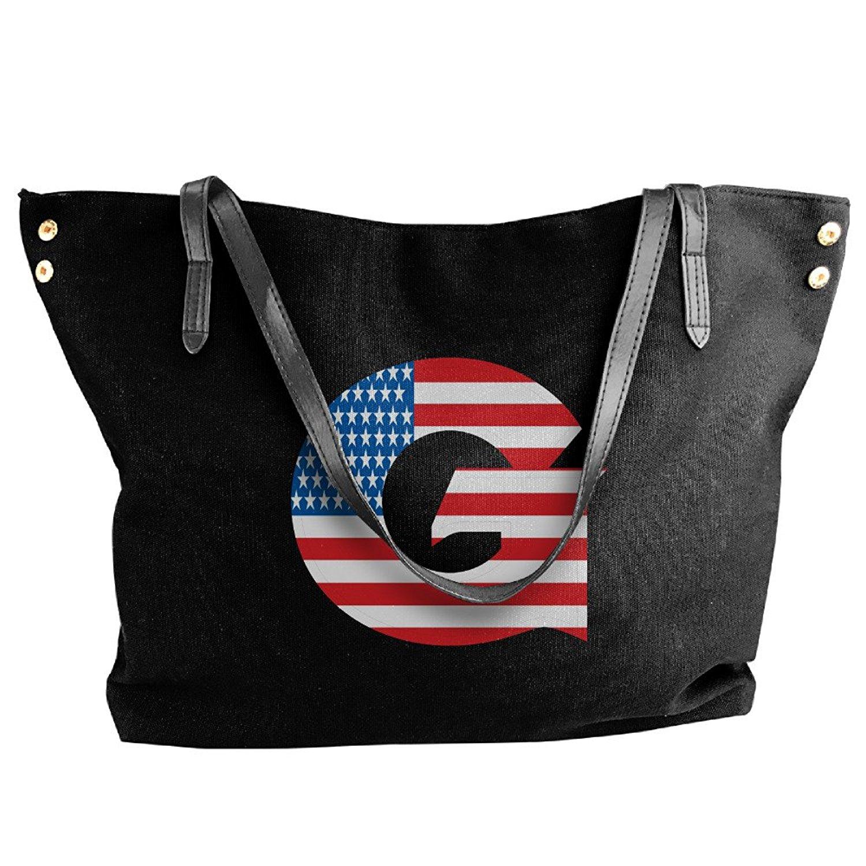 Get Quotations Ncaa Georgetown Hoyas Usa Flag Logo Handbag Shoulder Bag For Women