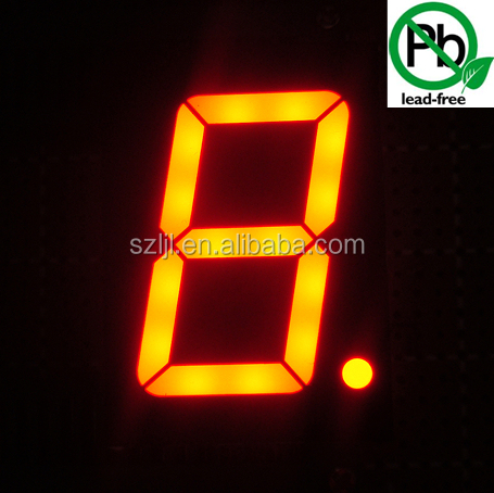 "Small cheap amber/orange color 1.5"" 7 segment single digit LED Numeric Display"