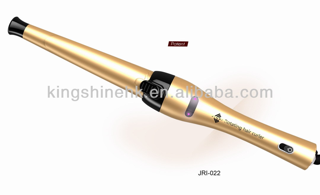 Hair salon equipment luxury gold color auto Hair curling private label Magic wavy curling iron