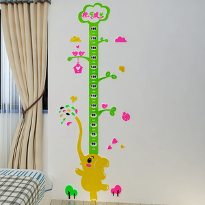 DIY decorative Livingroom removable wall decal Grow Chart Height Chart Kids Nursery Tree Educational 3D wall sticker