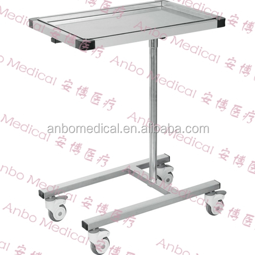 CE ISO Stainless steel Medical mayo instrument table