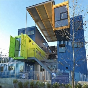 High quality ecological recycled high container buildings prefab apartment/hotel prefabricated container hotel