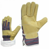 Brand MHR high quality leather welding glove reinforced one size fits all white gloves