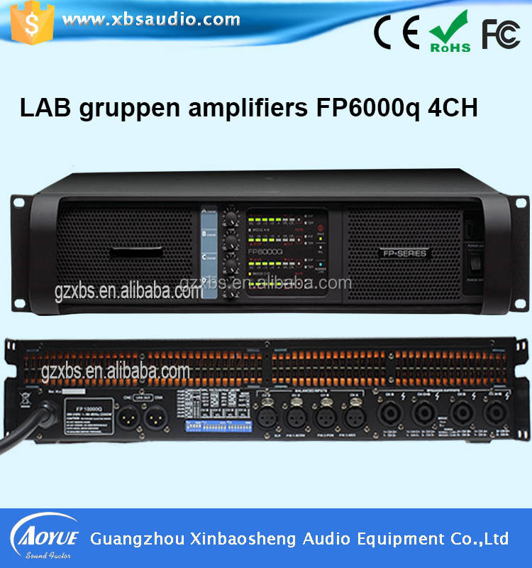 power amplifier FP6000q and FP10000q 8 Ohm 4 Channel hi-fi stereo audio amplifier from Guangzhou