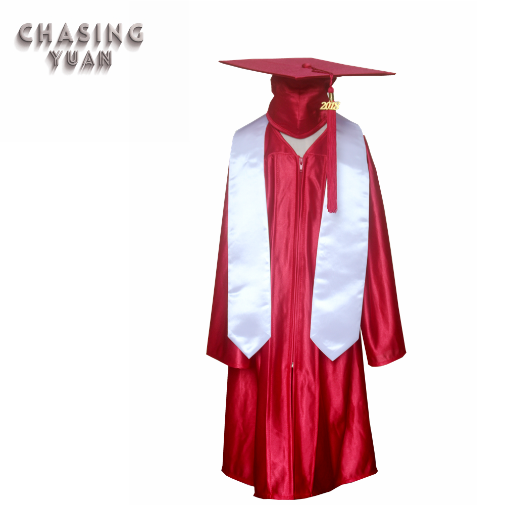 Wholesale Kindergarten Graduation Red Cap Gown And Stole - Buy Red ...