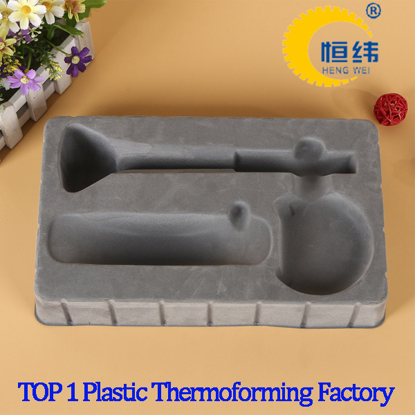 Free sample Blister plastic flocked Tray for stationery