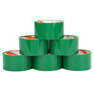 Strong adhesive custom logo printed green bopp packing tape with Printing Design