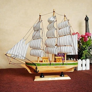 Hot Sale Antique Wooden Craft Decorative Ship Model Sailboats Craft