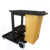 Plastic Hand Pull Platform 4 Wheels Janitor Cart For Hotel