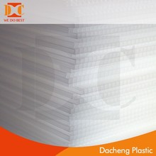 New Transparent Colored PP Plastic Hollow Sheets