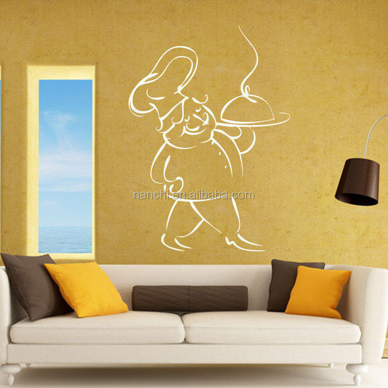 Kitchen Chef food art wall sticker decoration kitchen removable waterproof wall decals