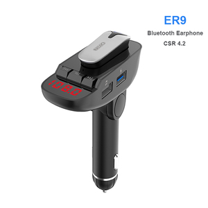 2018 Wireless Multifunctional Bluetooth Handsfree Car Kit/Adapter FM Transmitter/Calling/Mp3 Player, USB Ports for charger