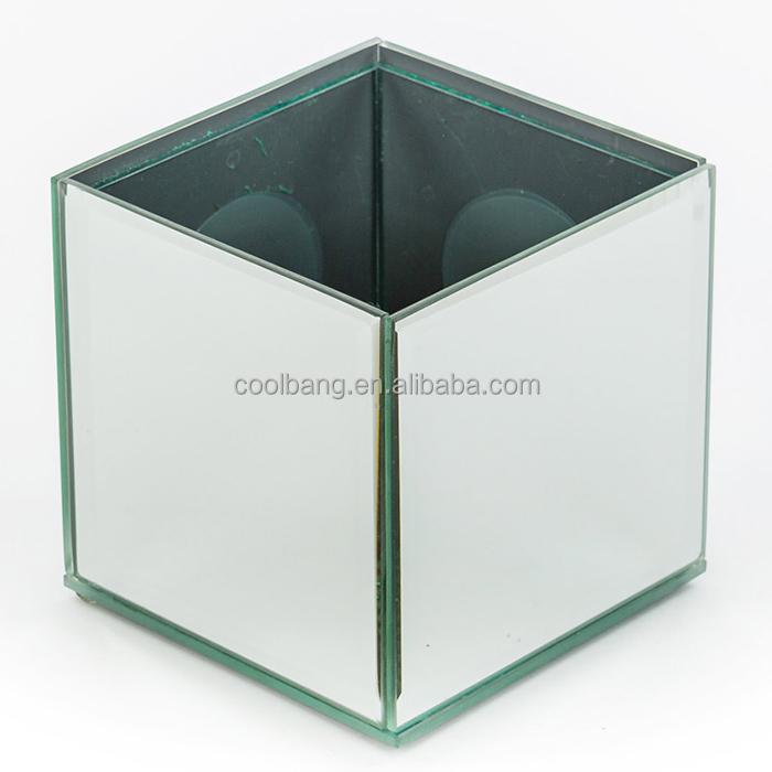 Custom Celebration Wedding Beautiful Mirror Cube Vase Wholesale