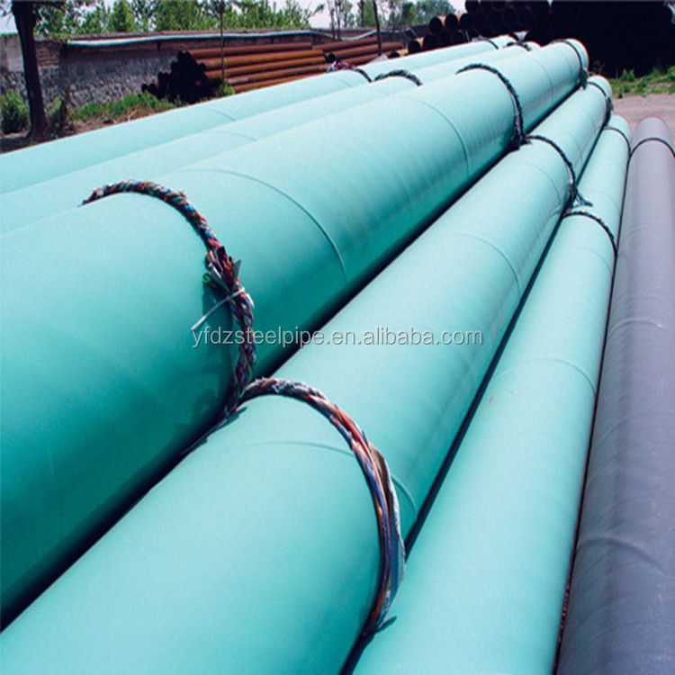 Hot sale on alibaba 3PE painted spiral steel pipe ssaw steel pipe to transmission for oil and water