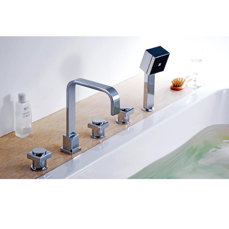 3 piece shower faucet.  Five piece tub shower faucet hot and cold taps all copper bathtub suit square Cheap 3 Piece Shower Faucet find deals on