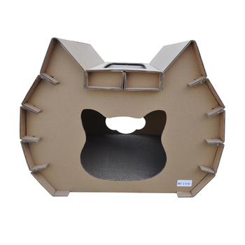 New Design Cardboard Lovely Cat Scratcher House Corrugated For Cats