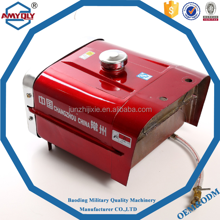 Square oil tank with stainless steel accessories