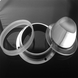 Industrial Light Clear Power LED Glass Lens With Narrow Angle 40 Degree
