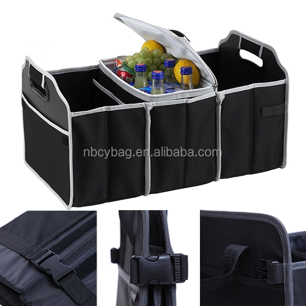 Chiyuan Collapsible Car Boot Organiser with Cooler bag