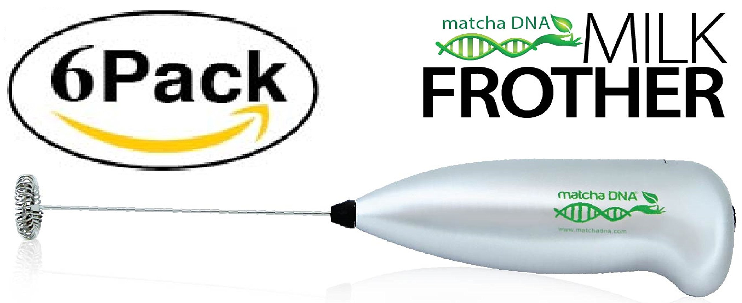 MatchaDNA Handheld Electric Milk Frother (Silver Handheld) (SYNCHKG079550)