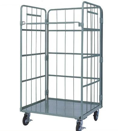 Warehouse Transport Lightweight And Large Loading Folding Metal Logistic Trolley