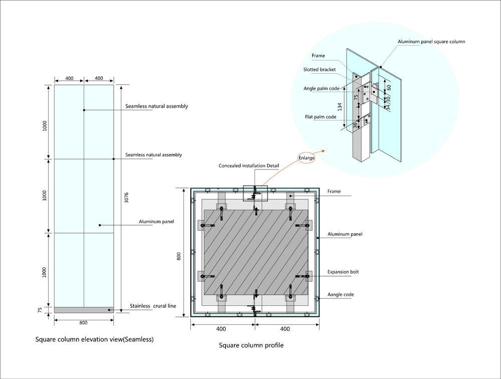 Durable Aluminum Single Panel,Exterior Aluminium Wall ...