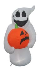 Inflatable lighted Halloween ghost hold a pumpkin 2017