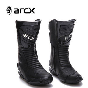 ARCX Men Anti-slip Riding Shoes Motorbike Motorcycle Racing Boots Black Motorbike Racing Boots