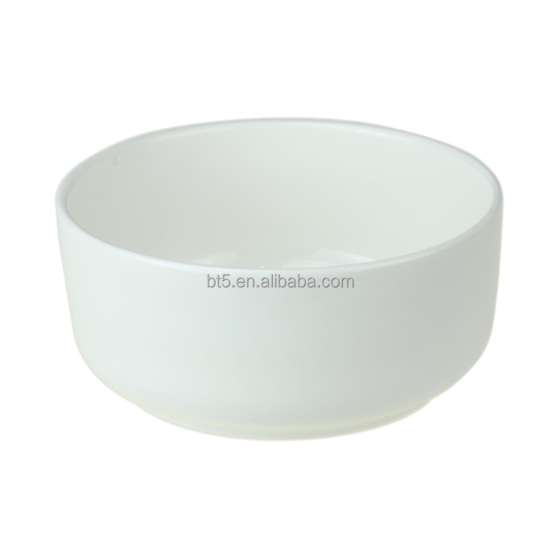 New white color good quality round porcelain soup bowl from china