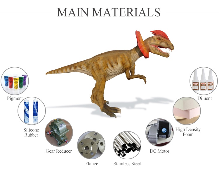 OAJ 8617 Outdoor Realistic Mechanical Big Dinosaur Replica and Fiberglass Dinosaur Model For Sale